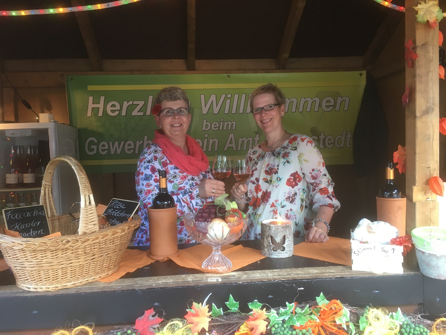 Flower Power auf dem Weinfest in Hennstedt